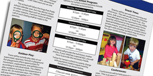 Prime Time Preschool – Brochure